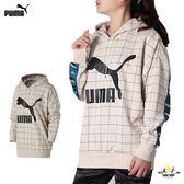 Puma 米白 女款 流行系列 長袖帽T 織帶 連帽T 長袖 上衣 57833902