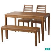 ◎實木餐桌椅4件組 VIK 柚木色 梣木 NITORI宜得利家居