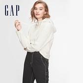 Gap女裝 簡約風格寬鬆式連帽休閒上衣 618427-米色