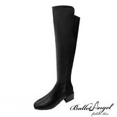 長靴 完美纖細雙拼及膝長靴(黑)*BalletAngel【18-7192bk】【現+預】