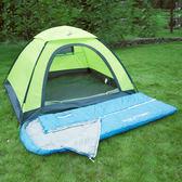 伸手睡袋成人戶外室內冬季加厚保暖露營旅行雙人隔臟棉睡袋【全館鉅惠85折】