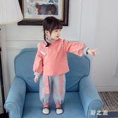 女童秋裝 新款兩件中國風小童洋氣兒童套裝女網紅寶寶小孩衣服 KV2755 【野之旅】