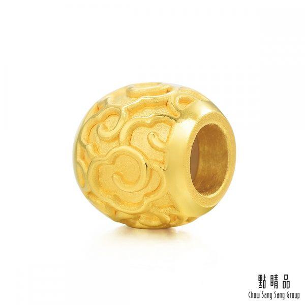點睛品  Charme  文化祝福-祥雲轉運珠  黃金串珠