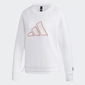 Adidas STR SWEAT 女裝 長袖 大學T 休閒 胸前LOGO 可調式下擺 白【運動世界】GP0719