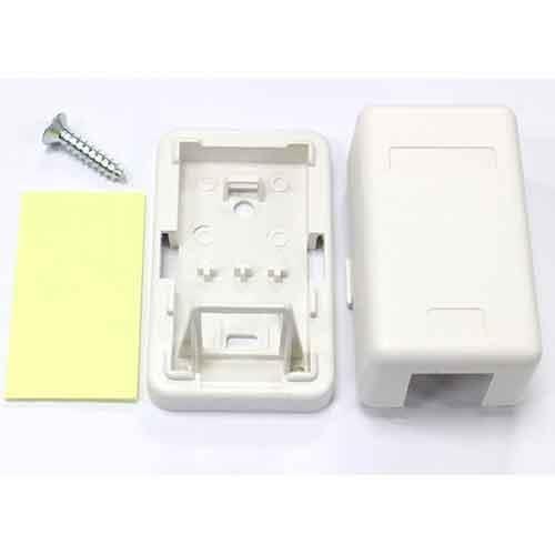 單孔資訊空盒(白)