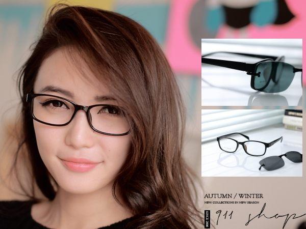 Chic.TR90塑膠鈦X偏光磁扣配鏡框橢方形眼鏡【od827】*911 SHOP*