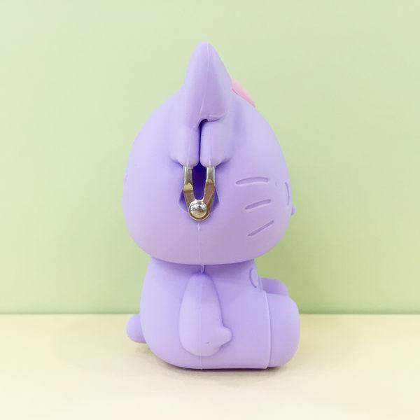 【震撼精品百貨】Hello Kitty 凱蒂貓~矽膠珠扣零錢包-KITTY整身造型-紫色