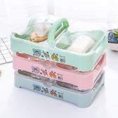 帶蓋雙格創意洗衣皂盒瀝水肥皂盒香皂盒大號便攜多層有蓋雙層旅行 芥末原創