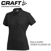 【速捷戶外】瑞典CRAFT 192467 女短袖排汗POLO衫(黑色) POLO SHIRT PIQUE CLASSIC W