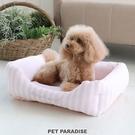 【PET PARADISE 寵物精品】PP 條紋接觸冷感睡床/粉白 (57x45cm) 《COOL》 寵物睡床 寵物睡墊 接觸冷感