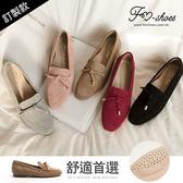 (預購商品需過年後寄送)樂福.朵結小方頭樂福鞋(灰、粉)-FM時尚美鞋-訂製款.lightly