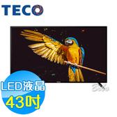 TECO東元 43吋 TL43A5TRE LED液晶顯示器 液晶電視(含視訊盒)