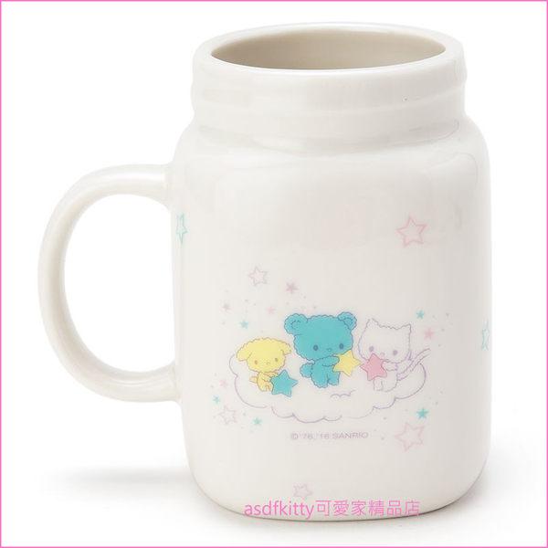 asdfkitty可愛家☆雙子星罐型陶瓷馬克杯-也可當筆筒或花器-日本正版商品