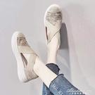 漁夫鞋女網紅鏤空透氣厚底懶人一腳蹬時尚上班夏款淺口老北京布鞋 黛尼時尚精品