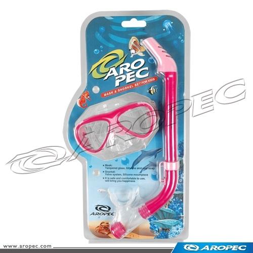 兒童用面鏡+呼吸管組    CO-YA262305C-S【AROPEC】