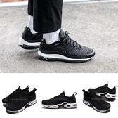 Nike 慢跑鞋 Air Max 97 Plus 黑 白 氣墊 反光設計 復古 黑白 運動鞋 男鞋 女鞋【PUMP306】 AH8144-001