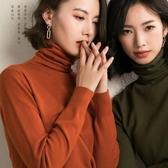 特賣高领毛衣女2020新款羊毛堆堆高領套頭內搭打底針織衫寬松長袖秋冬純色毛衣女
