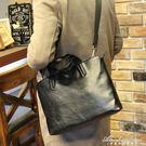 簡約男包潮流男士手提包休閒側背斜背包男電腦商務公文包背包 igo黛尼時尚精品