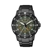 【Citizen星辰】PROMASTER 光動能時尚經典飛行腕錶-軍綠/BJ7095-56X/台灣總代理公司貨享兩年保固