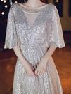 尾牙禮服 宴會晚禮服裙女新款氣場女王高端大氣優雅氣質高貴年會主持人-快速出貨