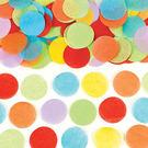 圓片碎花紙-彩虹