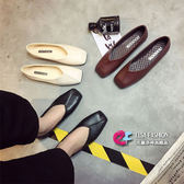 包頭鞋 復古素面多款式淺小方頭口豆豆鞋 艾爾莎【TSB8720】
