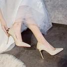 法式高跟鞋女細新款尖頭性感婚鞋