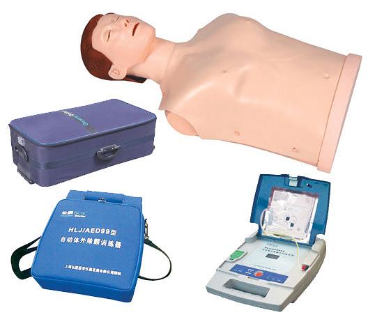 AED自動體外模擬除顫與CPR模擬人訓練組合 心肺復蘇模型 AED