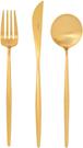 Cutipol【日本代購】葡萄牙 MOON系列 餐具 地墊金晚餐-3件套