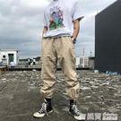 韓國復古經典可調節綁帶純色工裝長褲 18AW男女款  LM々樂買精品