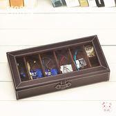 墨鏡收納盒皮革透明眼鏡收納盒整理盒 多8格太陽鏡墨鏡便攜收藏展示盒旅行(七夕禮物)