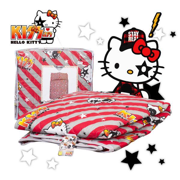 Hello Kitty 線條 涼被 單人 台灣製