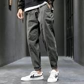 潮流長褲 男士褲子休閒褲男長褲寬鬆直筒褲男褲夏季薄款工裝褲韓版潮流百搭