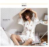 和服睡衣日式和服睡衣女夏季純棉短袖韓版清新學生寬鬆夏天兩件套裝  朵拉朵衣櫥