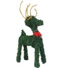 綠色聖誕小鹿擺飾 12吋 /一個入(促99) 可愛桌上型長腿聖誕小鹿-YF10585