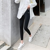 打底褲緊身褲休閒褲M-3XL鯊魚皮運動高腰瑜伽緊身褲錦綸外穿顯瘦芭比褲4F054-8058.