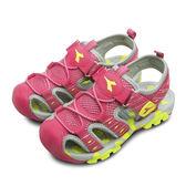 LIKA夢 DIADORA 護趾運動涼鞋 繽紛遊樂系列 玫紅黃 5102 中童