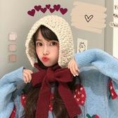 雷鋒帽女日系毛線帽秋冬保暖韓版可愛冬季護耳包頭針織帽【聚寶屋】