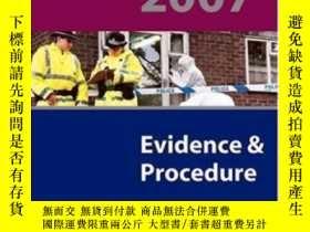 二手書博民逛書店Blackstone s罕見Police Q&a: Evidence And Procedure 2007-黑石警