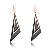 【5折超值價】 情人節禮物日韓簡約款斜三角造型鈦鋼耳飾