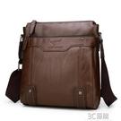 男包單肩包休閒潮斜挎包商務公文包軟皮大容量多功能背包男士包包 3C優購