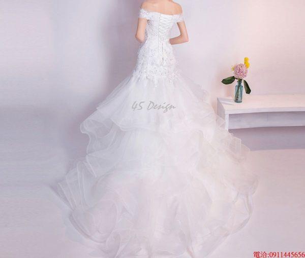 (45 Design)  現貨到貨 客製化顏色大尺碼訂做 日韓婚紗禮服 高級訂製服 連身裙 洋裝媽媽裝21