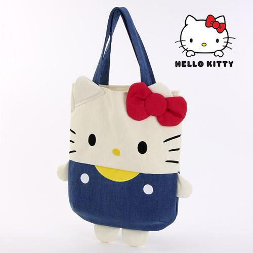 凱蒂貓 經典造型手提包 肩背包 大款 kitty 三麗鷗 日本正版 該該貝比日本精品 ☆