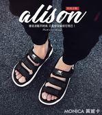 涼鞋涼鞋男夏時尚外穿軟底兩穿男士沙灘鞋兩用室外防滑涼拖鞋 莫妮卡小屋