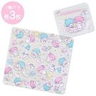 Sanrio 雙星仙子可愛透明夾鍊袋組-...