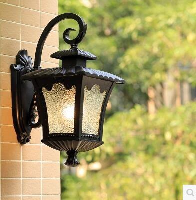 美式歐式防水戶外燈具別墅室外壁燈創意  主圖款【四方荷花燈】