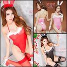 情趣用品 女性商品 日本流行死庫水造型連身泳裝開高衩兔女郎2件組(連身衣+兔耳朵髮箍)