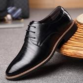 真皮商務休閒皮鞋 系帶正裝單鞋 英倫鞋子【五巷六號】x122