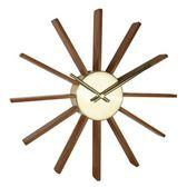羅伊太陽木片壁鐘