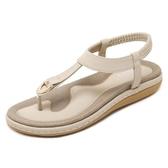 夾腳涼鞋 波西米亞平底羅馬鞋 休閒大碼鞋子《小師妹》sm1940